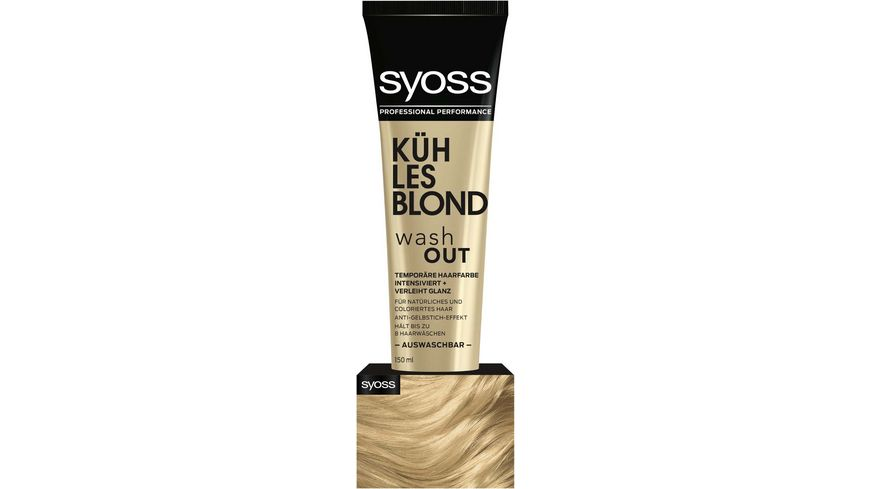 syoss Wash Out Kuehles Blond