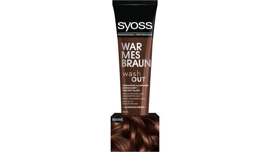 syoss Wash Out Warmes Braun
