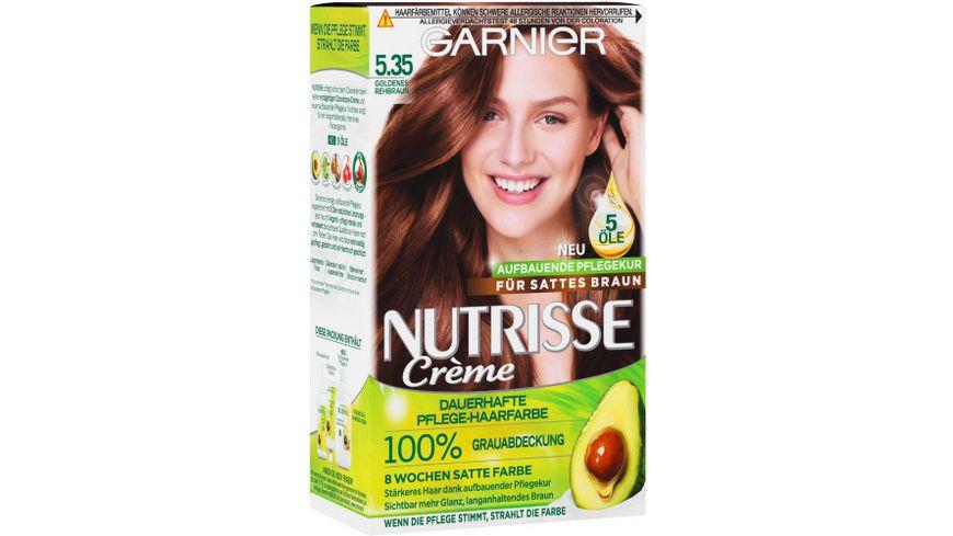 GARNIER Nutrisse Creme dauerhafte Pflege Haarfarbe Nr 5 35 Goldenes Rehbraun