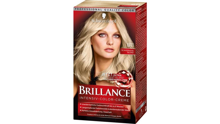 Schwarzkopf BRILLANCE Intensiv Color Creme 811 Scandinavia Blond