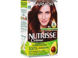 GARNIER Nutrisse Creme dauerhafte Pflege Haarfarbe Nr 45 Schokobraun
