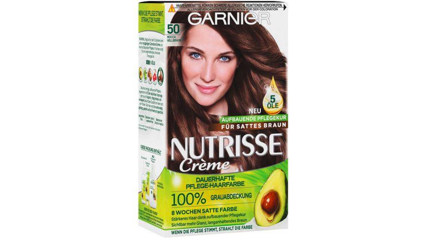 GARNIER Nutrisse Creme dauerhafte Pflege Haarfarbe Nr 50 Mocca Hellbraun