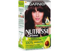 GARNIER Nutrisse Creme dauerhafte Pflege Haarfarbe Nr 3 23 Dunkles Diamant Braun