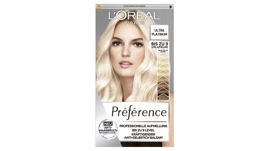 L'ORÉAL PARIS Préférence Ultra Platinum Helles Platinblond 9L mit Anti-Haarbruch Technologie