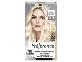 L OREAL PARIS Preference Ultra Platinum Helles Platinblond 9L mit Anti Haarbruch Technologie
