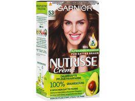 GARNIER Nutrisse Creme dauerhafte Pflege Haarfarbe Nr 53 Samtbraun