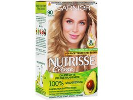 GARNIER Nutrisse Creme dauerhafte Pflege Haarfarbe Nr 90 Hellblond