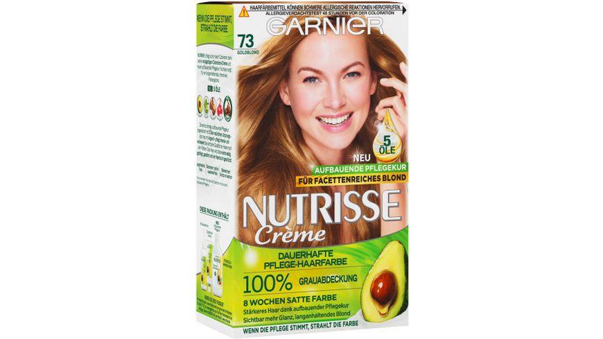 GARNIER Nutrisse Creme dauerhafte Pflege Haarfarbe Nr 73 Goldblond