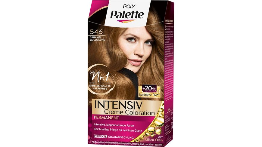 Schwarzkopf POLY PALETTE Intensiv Creme Coloration 546 Caramel Goldblond