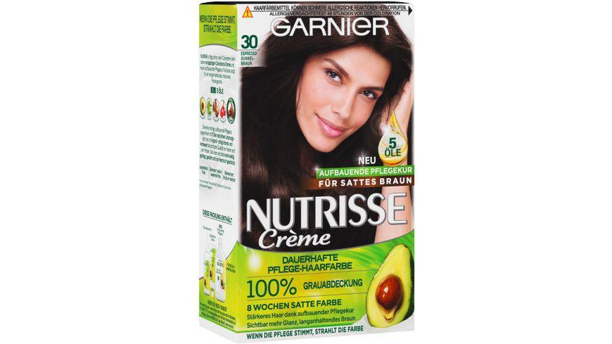GARNIER Nutrisse Creme dauerhafte Pflege Haarfarbe Nr 30 Espresso Dunkelbraun