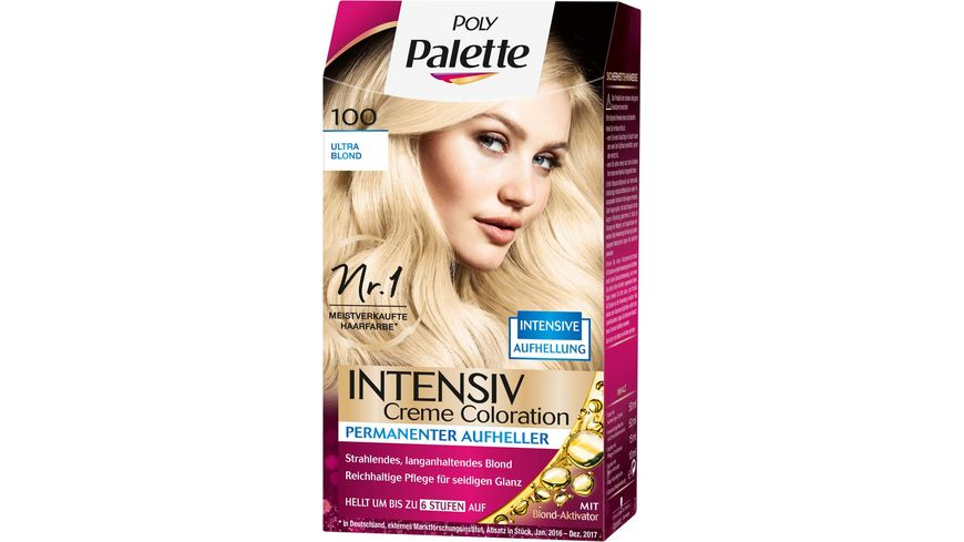 Schwarzkopf POLY PALETTE Intensiv Creme Coloration 100 Ultra Blond