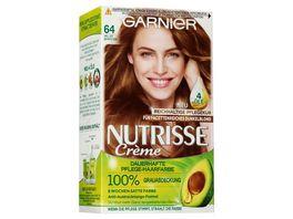GARNIER Nutrisse Creme dauerhafte Pflege Haarfarbe Nr 64 Heller Bernstein