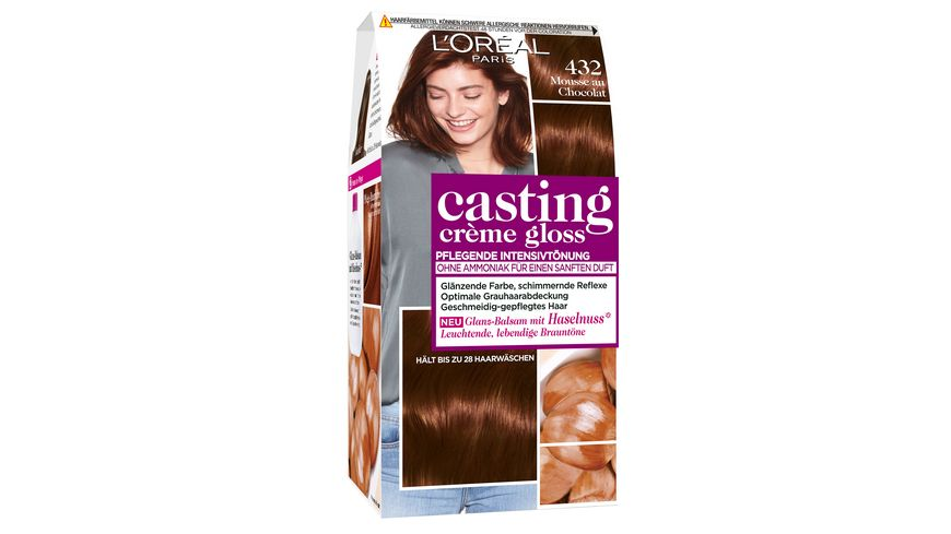 L OREAL PARIS Casting Creme Gloss Glanz Reflex Intensivtoenung 432 in Mousse au Chocolat