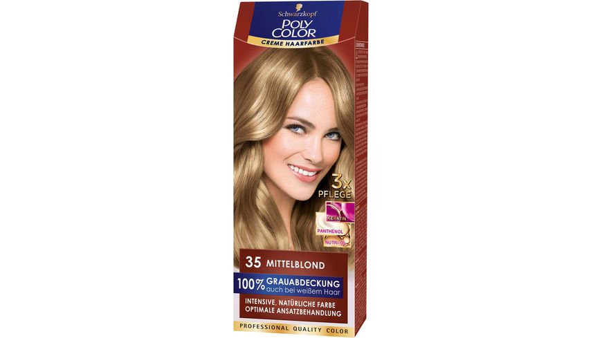 Schwarzkopf Poly Color Creme Haarfarbe Coloration 35 Mittelblond