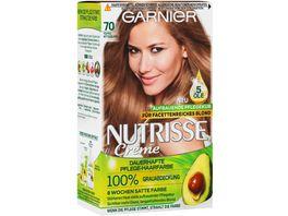 GARNIER Nutrisse Creme dauerhafte Pflege Haarfarbe Nr 70 Toffee Mittelblond