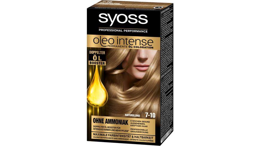 syoss Oleo Intense Permanente Oel Coloration 7 10 Naturblond