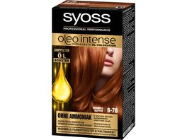 syoss Oleo Intense Permanente Oel Coloration 6 76 Warmes Kupfer