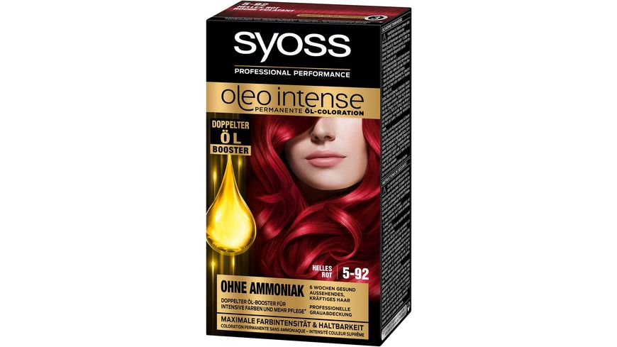 syoss Oleo Intense Permanente Oel Coloration 5 92 Helles Rot