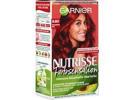 GARNIER Nutrisse FarbSensation dauerhafte Pflege Haarfarbe Nr 6 60 Intensiv Rot
