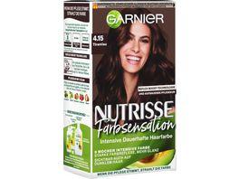 GARNIER Nutrisse FarbSensation dauerhafte Pflege Haarfarbe Nr 4 15 Tiramisu Braun