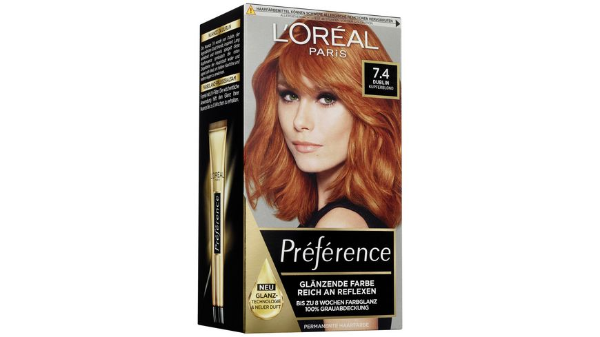 L OREAL PARIS Preference 7 4 Intensives Kupferblond Irland