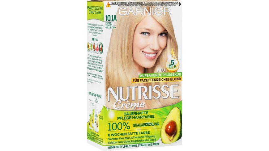 GARNIER Nutrisse FarbSensation dauerhafte Pflege Haarfarbe Nr 10 1A Extra kuehles Hellblond