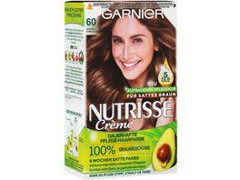 GARNIER Nutrisse Creme dauerhafte Pflege Haarfarbe Nr 60 Karamell Dunkelblond