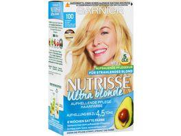 GARNIER Nutrisse Creme dauerhafte Pflege Haarfarbe Nr 100 Extra Helles Naturblond