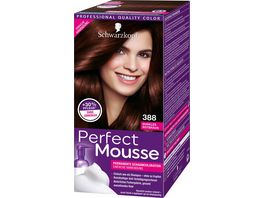 Schwarzkopf Perfect Mousse Schaumcoloration 388 dunkles Rotbraun Stufe 3
