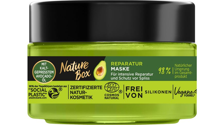 Nature Box Reparatur Maske Avocado Oel