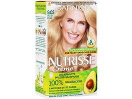 GARNIER Nutrisse Creme dauerhafte Pflege Haarfarbe Nr 9 03 Helles Naturblond