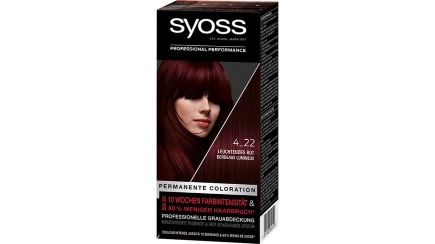 syoss Coloration 4 22 Leuchtendes Rot Violett