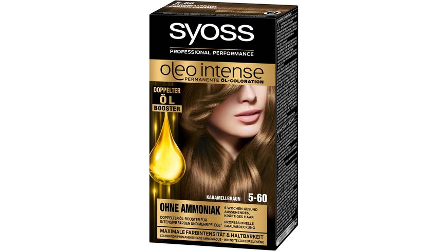 syoss Oleo Intense Permanente Oel Coloration 5 60 Karamellbraun