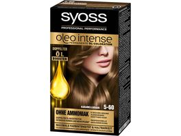 syoss Oleo Intense Permanente Oel Coloration 5 60 Karamellbraun