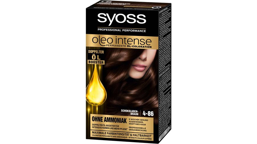 syoss Oleo Intense Permanente Oel Coloration 4 86 Schokoladenbraun