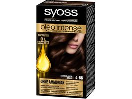 syoss Oleo Intense Permanente Oel Coloration 4 86 Schokoladenbraun
