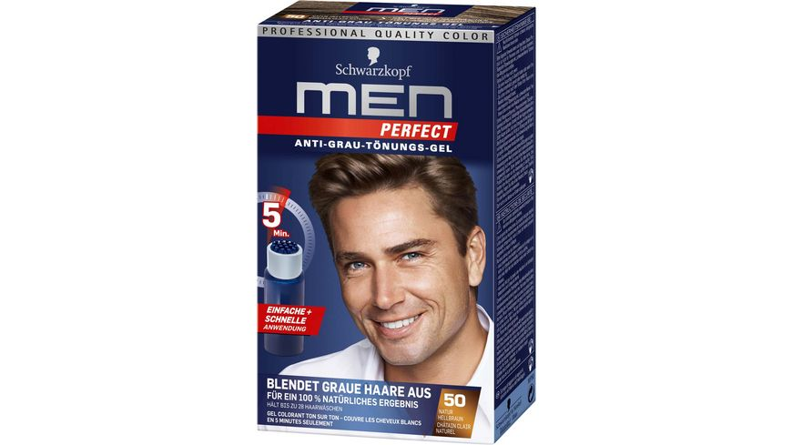 Schwarzkopf MEN PERFECT Toenungs Gel 50 Natur Hellbraun