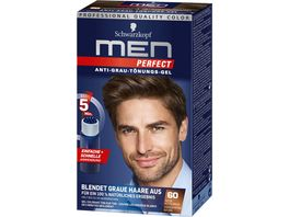 Schwarzkopf MEN PERFECT Toenungs Gel 60 Natur Mittelbraun