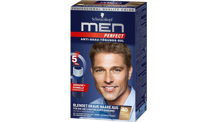 Schwarzkopf MEN PERFECT Toenungs Gel 40 Natur Dunkelblond