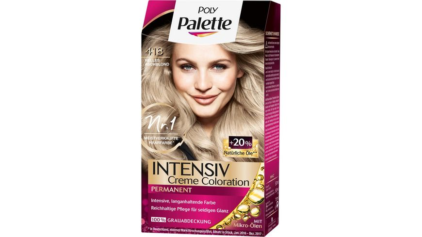 Schwarzkopf POLY PALETTE Intensiv Creme Coloration 418 Helles Aschblond