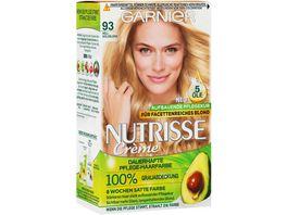 GARNIER Nutrisse Creme dauerhafte Pflege Haarfarbe Nr 93 Hellgoldblond