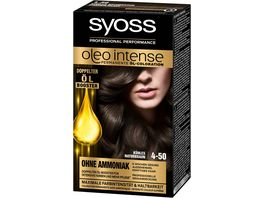 syoss Oleo Intense Permanente Oel Coloration 4 50 Kuehles Naturbraun