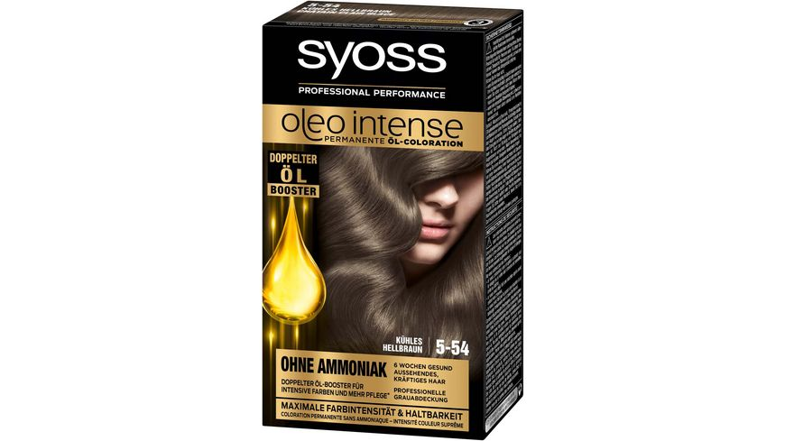 syoss Oleo Intense Permanente Oel Coloration 5 54 Kuehles Hellbraun