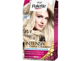 Schwarzkopf POLY PALETTE Intensiv Creme Coloration 220 Frostiges Silberblond
