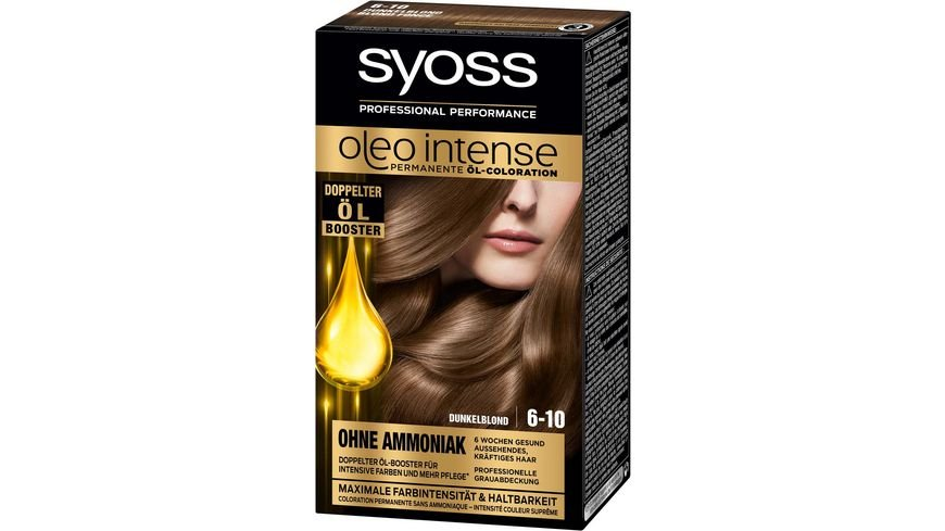 syoss Oleo Intense Permanente Oel Coloration 6 10 Dunkelblond