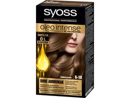 syoss Oleo Intense Permanente Oel Coloration 6 10 Dunkelblond