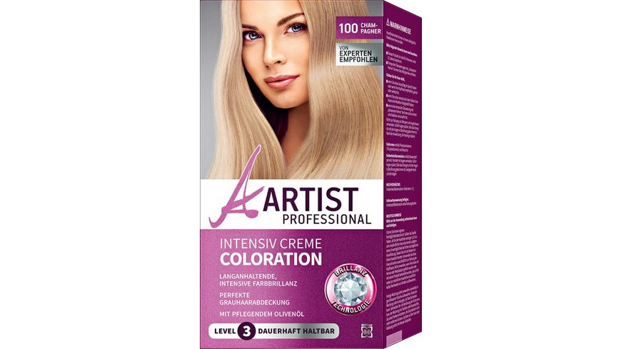 ARTIST Professional Intensiv Creme Coloration champagner 100