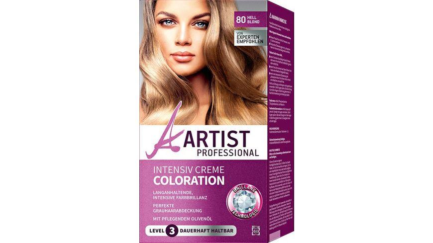 ARTIST Professional Intensiv Creme Coloration hellblond 80