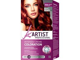 ARTIST Professional Intensiv Creme Coloration granatrot 755