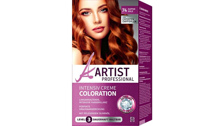 ARTIST Professional Intensiv Creme Coloration kupfergold 74